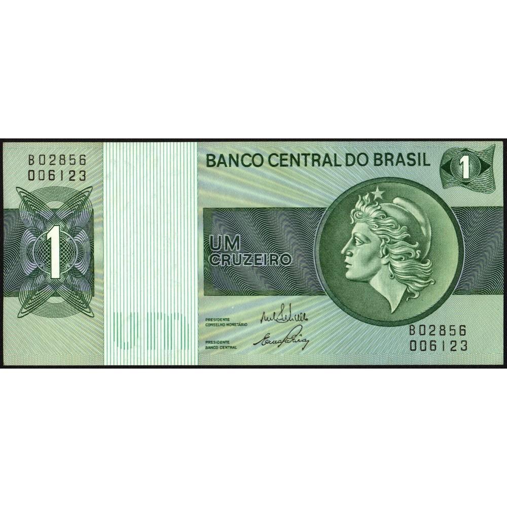 Бразилия.1 крузейро 1954-1958 г. UNC пресс