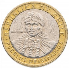 Чили 100 песо  2001-2021