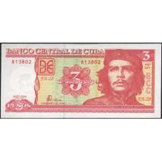 Куба 3 Песо 2004 г.UNC прес