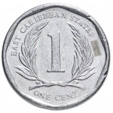 1 цент Восточные Карибы 2002-2013