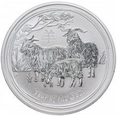 Австралия 1 доллар 2015. Год Козы. Восточный календарь. Серебро.