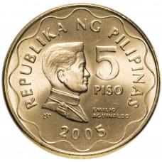 5 писо 2005 Филиппины UNC