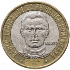 5 песо Доминикана 2002-2016
