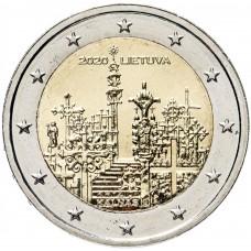 2 евро 2020 Литва, Гора крестов UNC