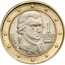 1 евро Австрия 2002