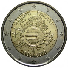 2 Евро 2012 Финляндия XF.10 лет наличному обращению евро