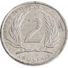 2 цента Восточные Карибы 2002-2011