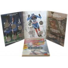 Набор монет - Олимпиада от Москвы 1980 до Сочи 2014 - в тематическом альбоме