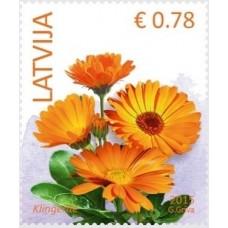 2015 Латвия.Стандартный выпуск. Цветы.Календула