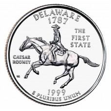 25 центов США 1999 Делавэр