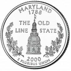 25 центов США 2000 Мэриленд