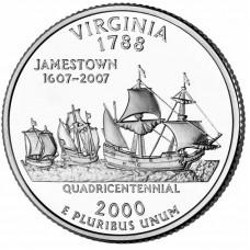 25 центов США 2000 Виргиния