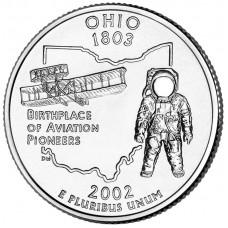 25 центов США 2002 Огайо, штаты