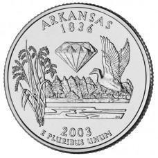 25 центов США 2003 Арканзас