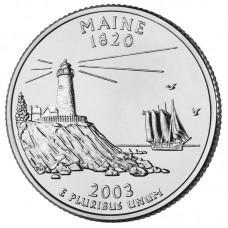 25 центов США 2003 Мэн, штаты
