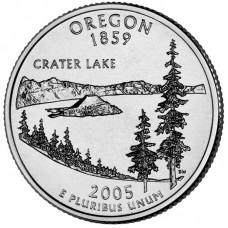 25 центов США 2005 Орегон, штаты