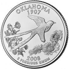 25 центов США 2008 Оклахома