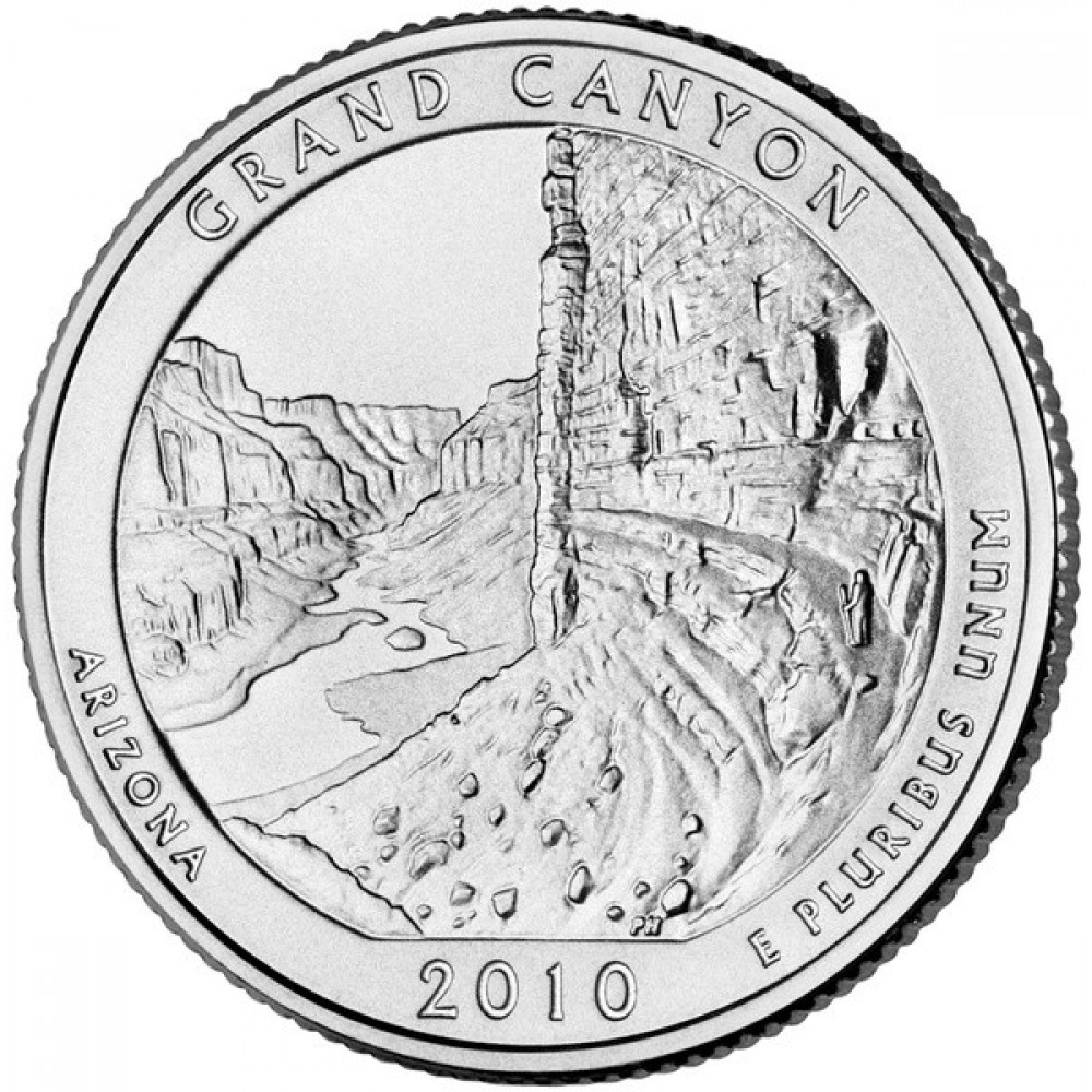 25 центов США 2010 Национальный парк Гранд-Каньон, Аризона, 4-й парк