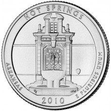 25 центов США 2010 Национальный парк Хот-Спрингс, 1-й парк