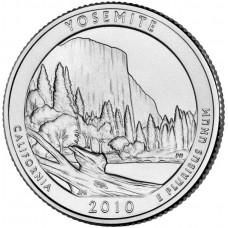 25 центов США 2010 Йосемитский национальный парк, Калифорния, 3-й парк