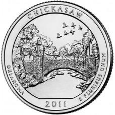 25 центов США 2011 Рекреационная зона Чикасо, Оклахома, 10-й парк