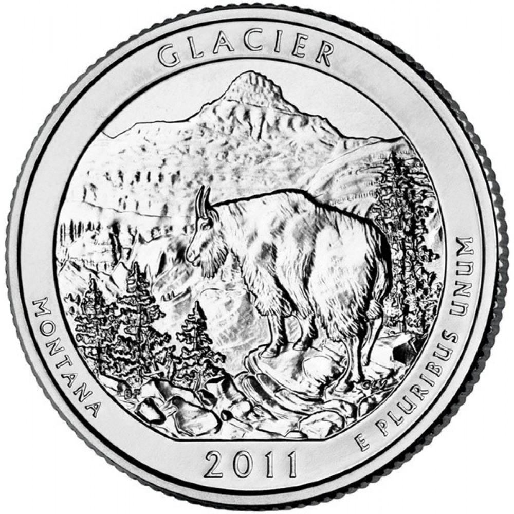25 центов США 2011 Национальный парк Глейшер, Монтана, 7-й парк
