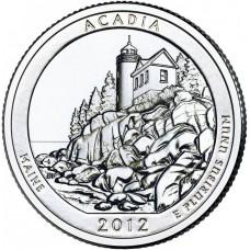 25 центов США 2012 Национальный парк Акадия, 13-й парк