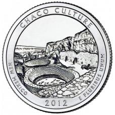 25 центов США 2012 Национальный исторический парк Чако, Нью-Мексико, 12-й парк