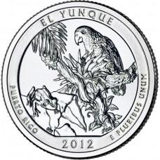 25 центов США 2012 Национальный лес Эль-Юнке, Пуэтро-Рико, 11-й парк