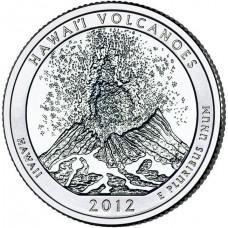 25 центов США 2012 Национальный парк Гавайские вулканы, 14-й парк