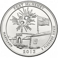 25 центов США 2013 Форт Мак-Генри, 19-й парк