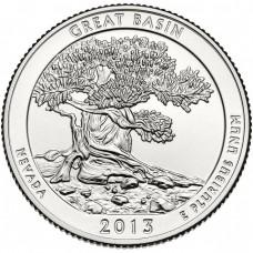 25 центов США 2013 Национальный парк Грейт-Бейсин, 18-й парк
