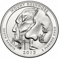25 центов США 2013 Национальный мемориал Маунт-Рашмор, 20-й парк