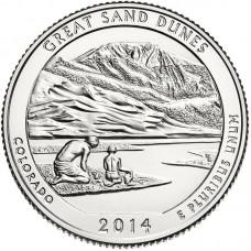 25 центов США 2014 Национальный парк Грейт-Санд-Дьюнс, 24-й парк