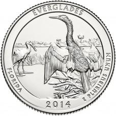 25 центов США 2014 Национальный парк Эверглейдс, 25-й парк