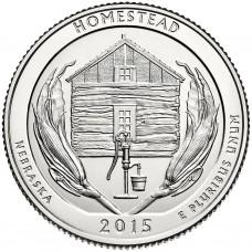 25 центов США 2015 Национальный монумент Гомстед, 26-й парк
