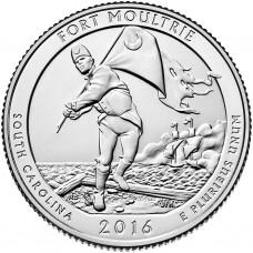 25 центов США 2016 Форт Молтри