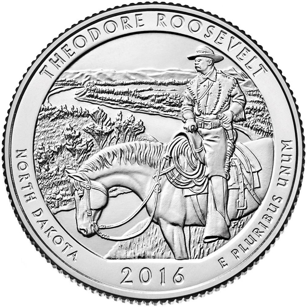 25 центов США 2016 Национальный парк Теодора Рузвельта, 34-й парк
