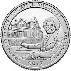25 центов США 2017 Национальное историческое место Фредерика Дугласа, 37-й парк
