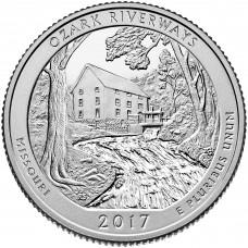 25 центов США 2017 Национальные водные пути Озарк