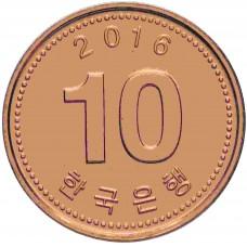 10 вон Южная Корея 2006-2020