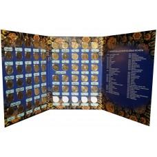 Набор 10 рублей Города Воинской Славы (ГВС) и другие в альбоме 57 монет, 2010-2018
