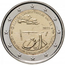 """2 евро 2021 Финляндия - """"100 лет самоуправлению на Аландских островах"""""""