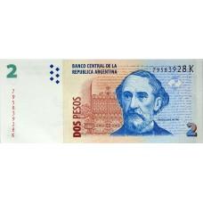 Аргентина 2 песо 2002-2014  UNC