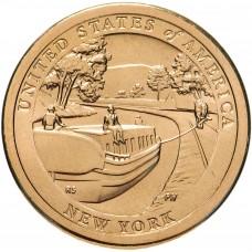 1 доллар 2021 Канал Эри - Нью-Йорк - Американские инновации