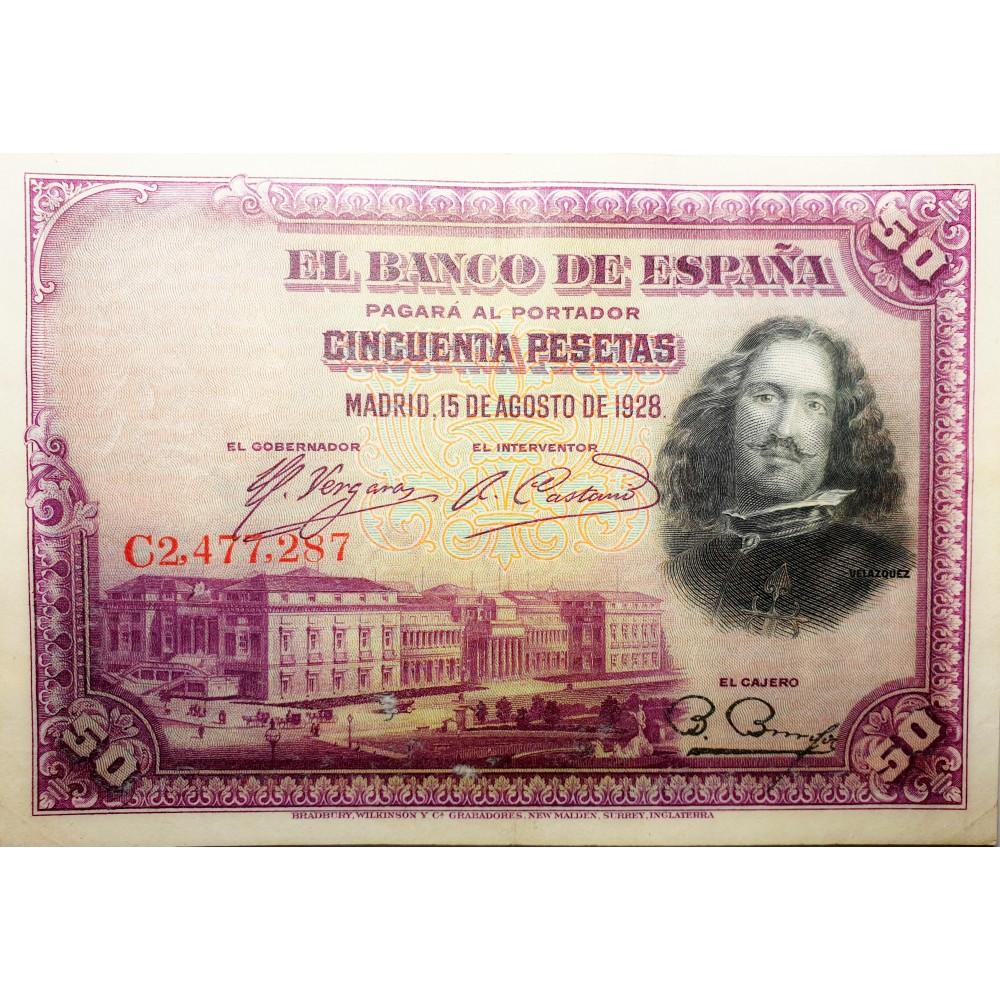 Банкнота Испания 50 песет 1928, XF