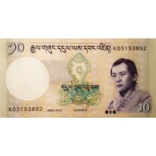 Бутан 10 нгултрум 2013 года UNC пресс