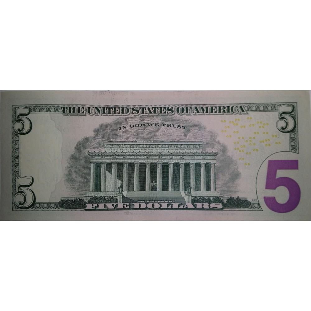 США.5 долларов 2013. UNC пресс