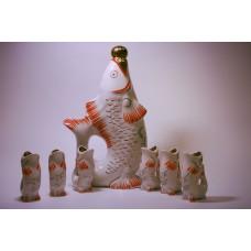 """Ликёрный набор """"Рыбки"""" Городница 1960 год"""