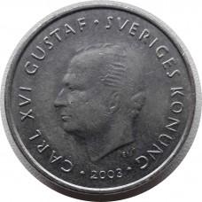 1 крона 2003 Швеция, Карл XVI Густав